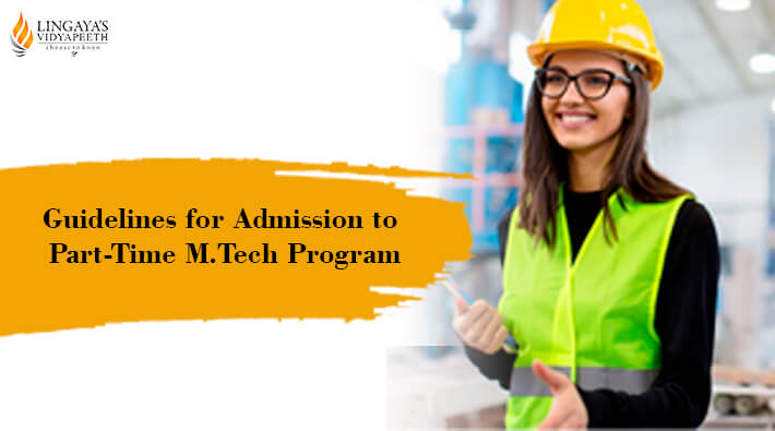 guidelines for admission to part time mtech program