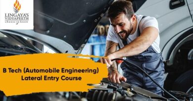 btech lateral entry automobile engineering