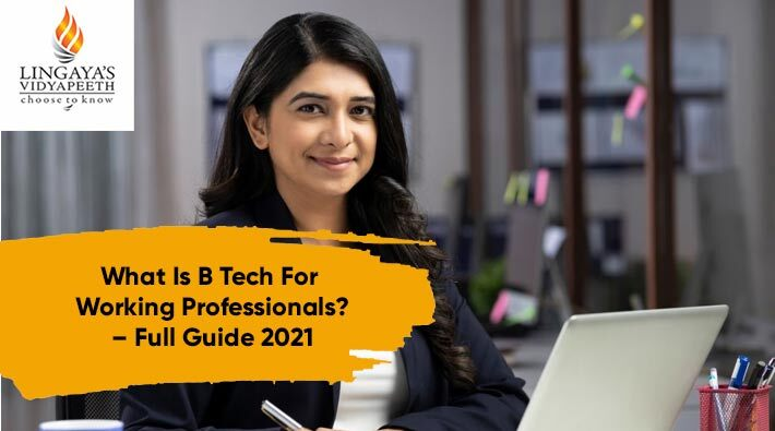 what is btech for working professionals